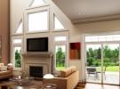 Custom Window In Living Room